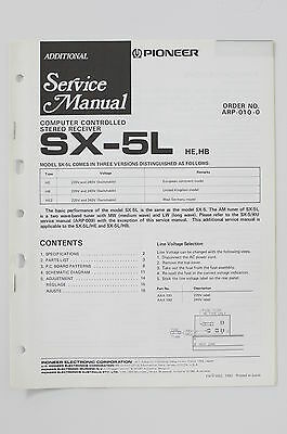 PIONEER SX-5L HE/HB STEREO Receiver ADDITIONAL Service-Manual/Schaltplan o73
