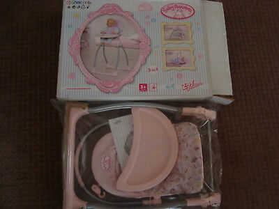 Zapf Creation Baby Annabell doll 3-in-1 Highchair, carry cot, rocking swing