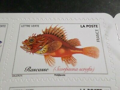 POISSONS DE MER, SEA FISH, 2019 timbre FRANCE, RASCASSE, neuf**, MNH STAMP