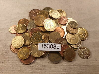 Large Mixed Date Denom Country Copper Brass Bronze Colored Wld Coins - # 153889