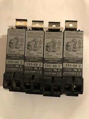 ALLEN BRADLEY 595-AB SERIES C AUXILIARY  CONTACT SIZE 0-5 Lot Of 4 Used