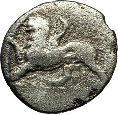 SIKYON in Sikyonia 360BC Authentic Ancient Silver Greek Coin DOVE CHIMERA i76696