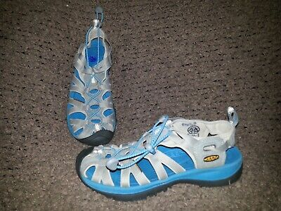 the best attitude dfe2f a262f KEEN-WHISPER-GRAY & BALTIC Blue Sport Water Sandals-Size 8.5-39-Near Mint