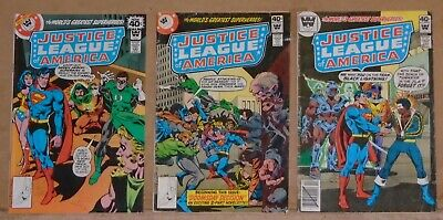 Justice League of America 167 169 & 173 Whitman variant lot of 3 Black Lightning