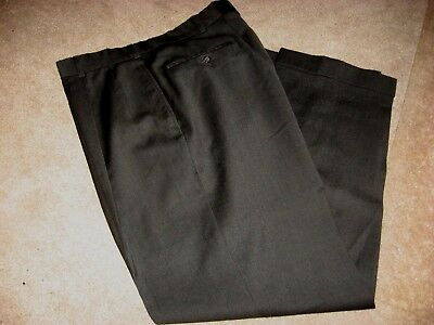 Mens Dark Gray AUSTIN REED Lined Wool Dress Pants 34 x 31