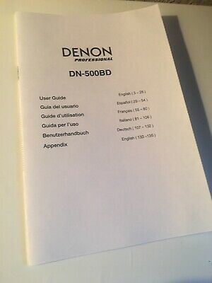 Denon DN-500BD Media Player Owners Instruction Manual