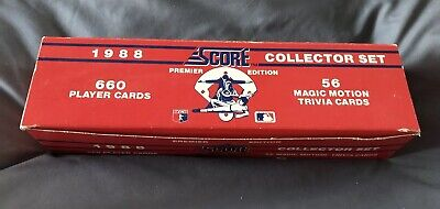 1988 Score Baseball Card Complete Set 1 660 Near Mint To