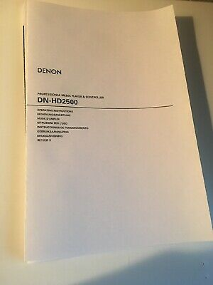 Denon DN-HD2500 Media Player Owners Instruction Manual