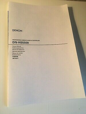 Denon DN-HS5500 Media Player Owners Instruction Manual