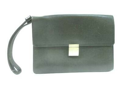 ccaca0a89c519 LOUIS VUITTON TAIGA Selenga Ardoise Leather Clutch Bag M30782 Auth F ...