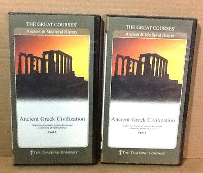 The Great Courses The Teaching Company Ancient Greek Civilization Part 1 2 DVD