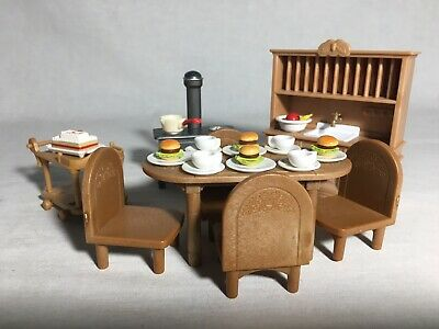 Calico critters/sylvanian families Kitchen/dining Furniture With Tea Cart