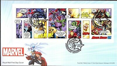 GB 2019 Royal Mail Marvel Super Heroes M/S Eastleigh  P/M F.D.C Unaddressed