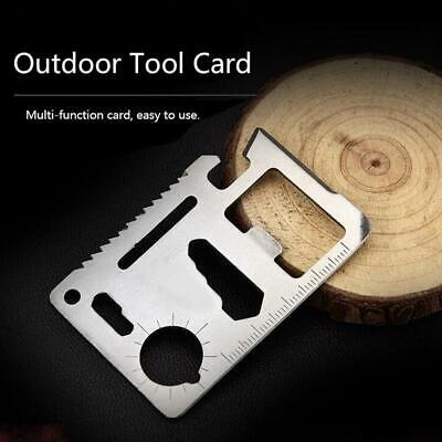 New 11in1 Multi Pocket Tools Outdoor Hunting Camping Credit Card Survival Knife