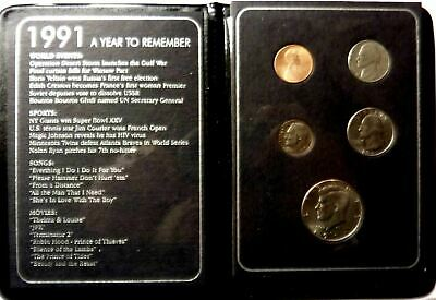 1991 A Year To Remember coin set with birth year historical facts !!!!!!!!!!!!!!
