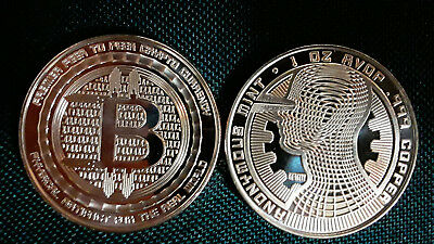 """BITCOIN - """" THE GUARDIAN """" - Last in Series - Anonymous Mint - 1oz .999 Copper"""