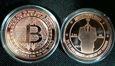 BITCOIN  ANONYMOUS MAN - 1st in Series - 1oz COPPER IN CAPSULE- ANONYMOUS MINT