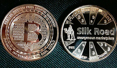 BITCOIN - ANONYMOUS MINT - SILK ROAD - 2ND IN SERIES - 1 oz .999 fine COPPER