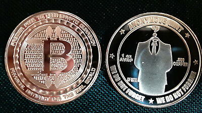 BITCOIN - ANONYMOUS MAN - 1oz .999 fine COPPER ROUND ART-COIN - ANONYMOUS MINT