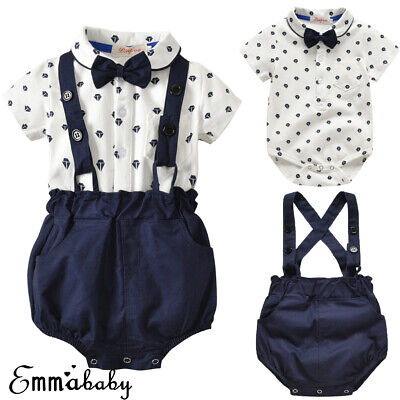 2d650986b46d6 CHILD BABY BOY Gentry Clothes Set Formal Party Christening Wedding ...
