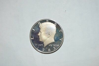 1983-S Kennedy Clad Proof Half Dollar Cameo - Great looking coin - Sharp