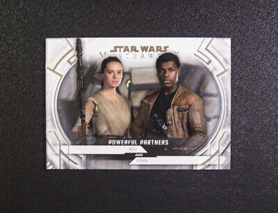 2018 Topps Star Wars Masterwork Powerful Partners Rey Finn PP-7 Daisy Ridley