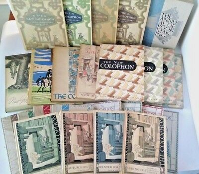 LOT OF 25 The Colophon - A Book Collectors' Quarterly  1935-1950