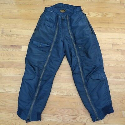VINTAGE ORIGINAL USAF US AIR FORCE HEAVY FLYING TROUSERS TYPE D-1A 1950's SZ 32