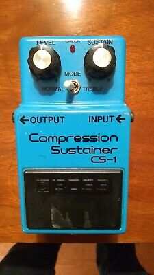 1980 BOSS Vintage CS-1 Compression Sustainer Guitar Effects Pedal MIJ
