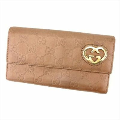cd34bb75d13 Gucci Wallet Purse Guccissima Brown leather Woman Authentic Used E1372