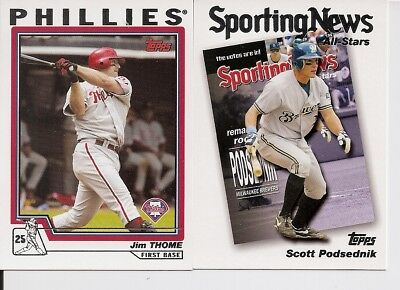 2004 Topps Baseball Cards Complete Your Set Lot U Pick 25