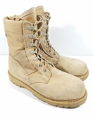 Rocky Desert Tan Military Army Combat Boots 6W  Hot Weather 789 Tactical Duty