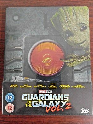 Guardians Of The Galaxy Vol.2 3D+2D Blu-ray Steelbook Embossed (Zavvi Ver)