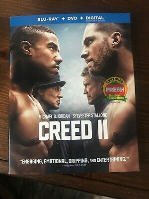 CREED II BLU-RAY And Dvd. No Code. Open But New Inside. Free Shipping.