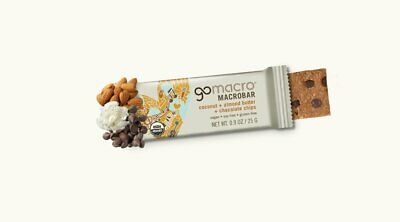 GOMACRO MacroBar Coconut + Almond Butter + Chocolate Chips 12x65g