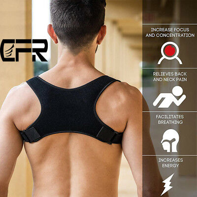 CFR Adjustable Back Shoulder Support Brace Posture Corrector Therapy Pain Relief