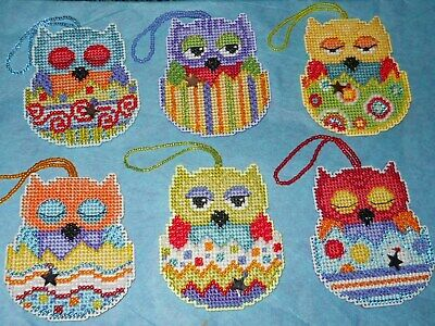 Set of 6 Completed Mill Hill Charmed Owlets ~ Emma,Finn,Huey,Kiwi,Tango,Violet