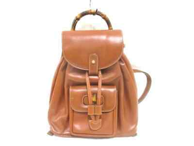 b480af9d4e0 GUCCI VINTAGE BAMBOO Brown Nubuck Backpack -  357.76