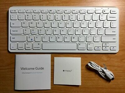 41c3ea8f37c ANKER Ultra Compact Rechargeable Bluetooth Keyboard White A7721 - iOS  Android PC