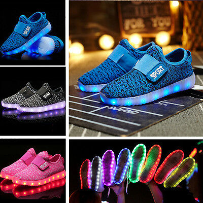 New Children Boys Girls Running shoes Luminous Sneakers Led Light for Kids shoes