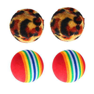 4pcs Pet Ball Gioca Ball Chest Interactive Toy per cani Puppy Cats