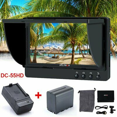 "Viltrox DC-55 HD 4K 5.5"" HDMI Video Field Monitor + F970 Battery For DSLR Camera"