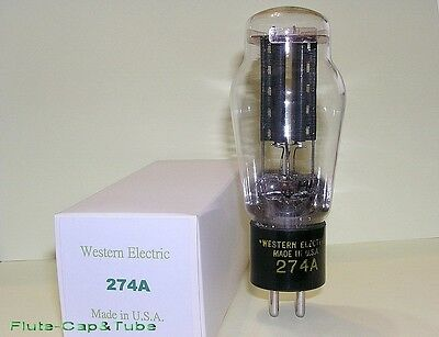 USED Western Electric  274A Rectifier Tube White box ,Square getters.