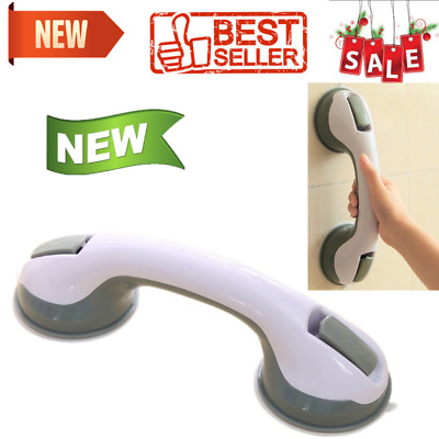 Bathroom Anti Slip Safety Handle Rail Helping Grab Bar Power Grip Suction Cup