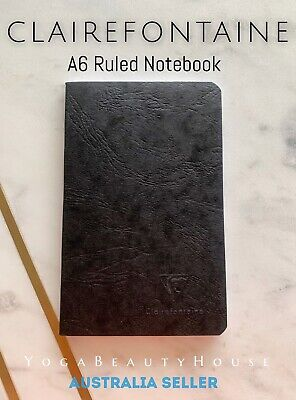 Clairefontaine Pocket Ruled Notebook Black (note book pad lined grid dot draw)