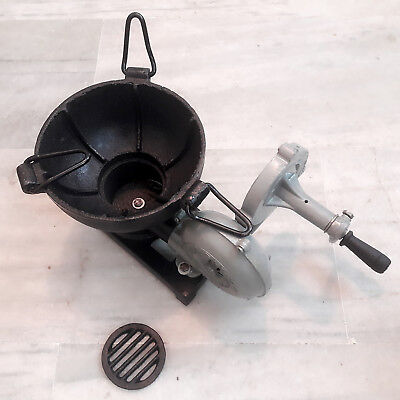 """Vintage Style Forge Furnace With Hand Blower Pedal Type Handle Bowl Size 7.5 """""""