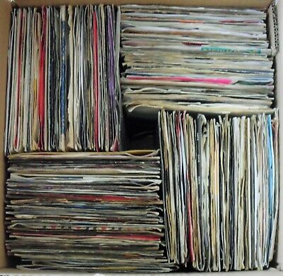 Job lot of 250 mixed pop, soul, rock, etc 7 inch singles.  Excellent condition