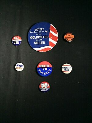 Vintage political campaign buttoms are