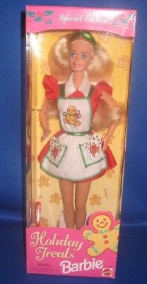 Barbie 1997 Special Edition Holiday Treats Doll Blonde//Blue from Dealers Stock