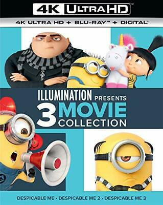 Despicable Me: 3 Movie Collection 1 / 2 / 3 (6 Disc +BR) 4K ULTRA HD BLU-RAY NEW